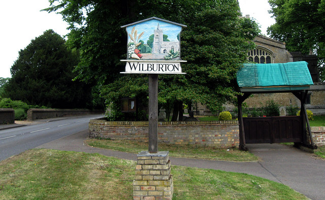 Wilburton Village Sign